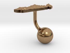Madagascar Terrain Cufflink - Ball in Natural Brass