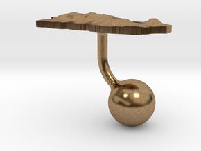 Puerto Rico Terrain Cufflink - Ball in Natural Brass