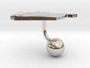 Syria Terrain Cufflink - Ball in Platinum