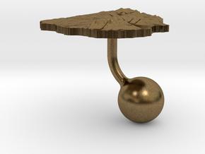 Uruguay Terrain Cufflink - Ball in Natural Bronze