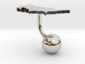 United States Terrain Cufflink - Ball in Platinum