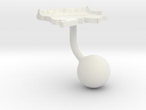 Colombia Terrain Cufflink - Ball in White Natural Versatile Plastic