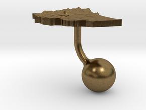 Ethiopia Terrain Cufflink - Ball in Natural Bronze