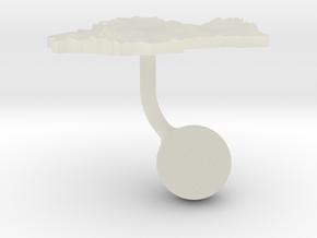 Spain Terrain Cufflink - Ball in Transparent Acrylic