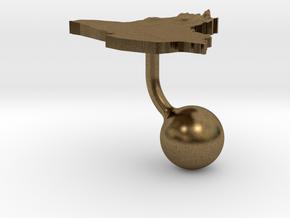 Iraq Terrain Cufflink - Ball in Natural Bronze