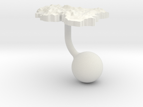Iran Terrain Cufflink - Ball in White Natural Versatile Plastic