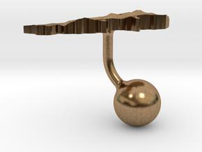 Lebanon Terrain Cufflink - Ball in Natural Brass