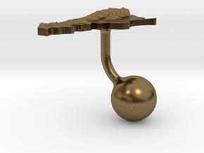 Argentina Terrain Cufflink - Ball in Natural Bronze