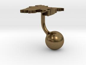 Bangladesh Terrain Cufflink - Ball in Natural Bronze