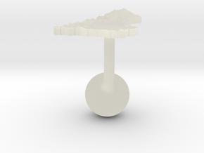 United Kingdom Terrain Cufflink - Ball in Transparent Acrylic