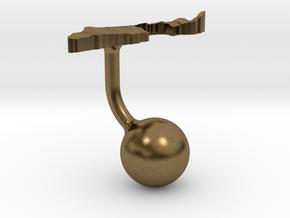 Israel Terrain Cufflink - Ball in Natural Bronze