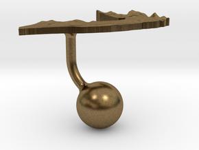 Somalia Terrain Cufflink - Ball in Natural Bronze