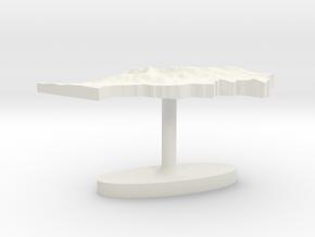 Morocco Terrain Cufflink - Flat in White Natural Versatile Plastic