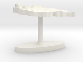 Mongolia Terrain Cufflink - Flat in White Natural Versatile Plastic
