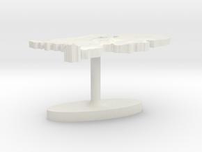 Netherlands Terrain Cufflink - Flat in White Natural Versatile Plastic