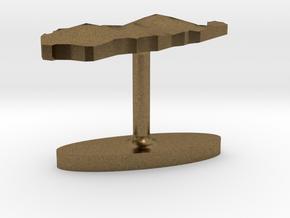 Palau Terrain Cufflink - Flat in Natural Bronze