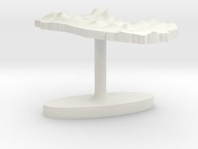 El Salvador Terrain Cufflink - Flat in White Natural Versatile Plastic