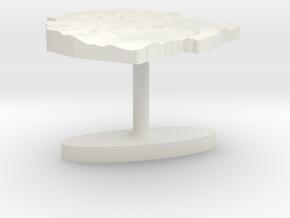 Swaziland Terrain Cufflink - Flat in White Natural Versatile Plastic