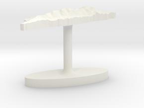 Taiwan Terrain Cufflink - Flat in White Natural Versatile Plastic