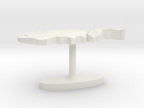 Afghanistan Terrain Cufflink - Flat in White Natural Versatile Plastic