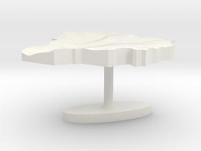 Andorra Terrain Cufflink - Flat in White Natural Versatile Plastic