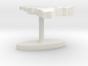 Belgium Terrain Cufflink - Flat in White Natural Versatile Plastic