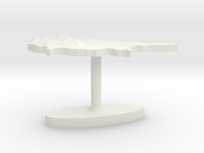 Cyprus Terrain Cufflink - Flat in White Natural Versatile Plastic