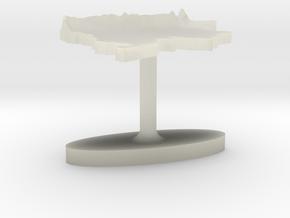 Colombia Terrain Cufflink - Flat in Transparent Acrylic