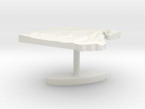 Egypt Terrain Cufflink - Flat in White Natural Versatile Plastic