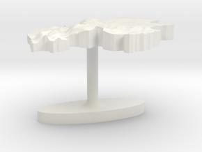 Gabon Terrain Cufflink - Flat in White Natural Versatile Plastic