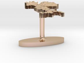 Italy Terrain Cufflink - Flat in 14k Rose Gold
