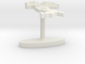 Italy Terrain Cufflink - Flat in White Natural Versatile Plastic