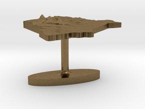 Kenya Terrain Cufflink - Flat in Natural Bronze