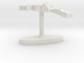Eritrea Terrain Cufflink - Flat in White Natural Versatile Plastic