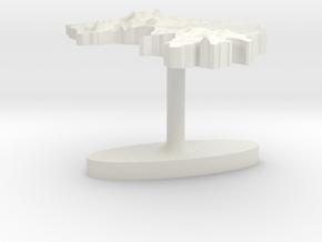 Guinea Terrain Cufflink - Flat in White Natural Versatile Plastic
