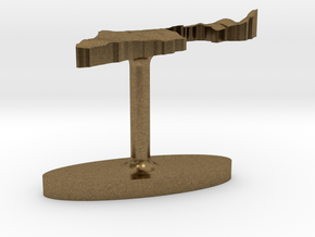 Israel Terrain Cufflink - Flat in Natural Bronze