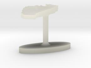 Togo Terrain Cufflink - Flat in Transparent Acrylic