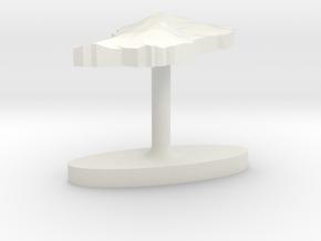 Dominica Terrain Cufflink - Plate in White Natural Versatile Plastic