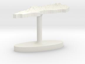 Sweden Terrain Cufflink - Flat in White Natural Versatile Plastic