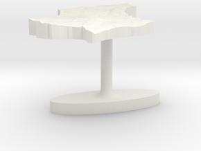 Luxembourg Terrain Cufflink - Plate in White Natural Versatile Plastic