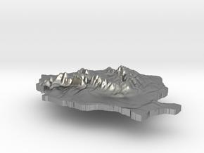 Romania Terrain Silver Pendant in Natural Silver