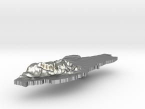 Belize Terrain Silver Pendant in Raw Silver