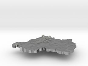 Rwanda Terrain Silver Pendant in Raw Silver
