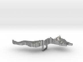 Malaysia Terrain Silver Pendant in Natural Silver