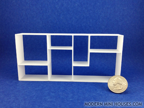 The Fixation 1:12 scale Bookshelf in White Processed Versatile Plastic