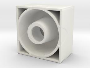 Micro Gelatin Mold in White Natural Versatile Plastic