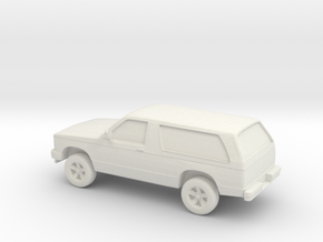 1/87 1984 Chevrolet Blazer S10 in White Natural Versatile Plastic