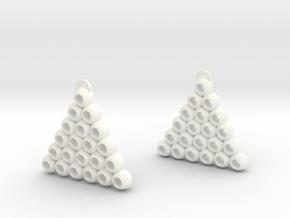 Ball Triangle in White Processed Versatile Plastic