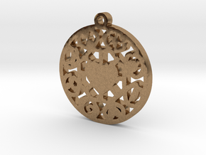 The Wheel of Time Pendant - By Celeste in Natural Brass