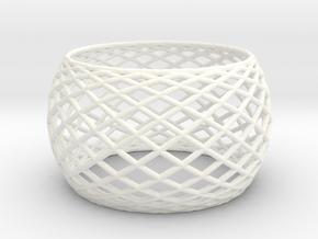 Bangle in White Processed Versatile Plastic